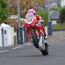 Setting the pace: Lee Johnston topped the Superbikes standings yesterday