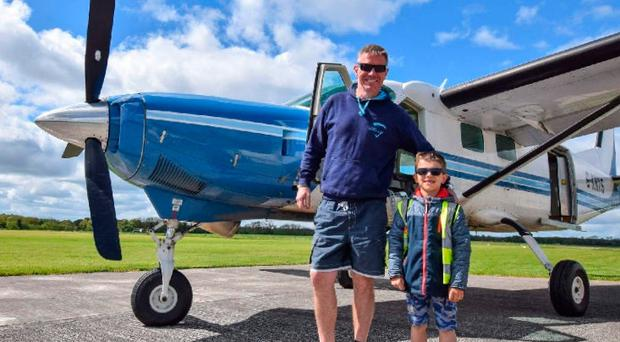 Neil Bowditch and Kacper Kacprzak, who died in the air crash in Co Offaly
