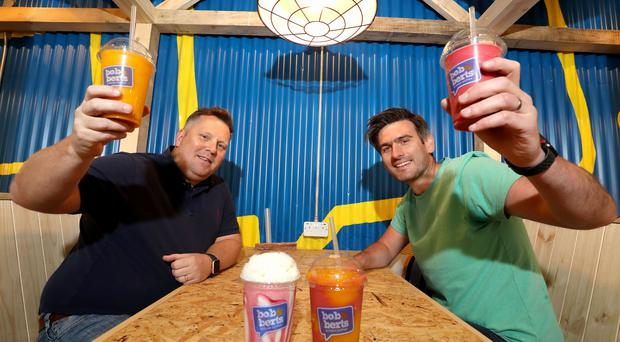 Pictured in the new store are Bob & Berts owners Colin McClean (left) and David Ferguson (right).