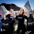Belfast Telegraph promotional team members Lauren Rolston and Aoibheann McKinley during Day 2 of the Balmoral show on May 17th 2018 (Photo by Kevin Scott / Belfast Telegraph)