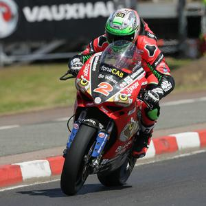 Glenn Irwin (PBM/Be Wiser Ducati) on his way to pole position for Saturday's Superbike races at the 2018 Vauxhall International North West 200 practice on Thursday. PICTURE BY STEPHEN DAVISON