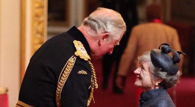 Julia McKenzie is made a CBE by the Prince of Wales (Yui Mok/PA)