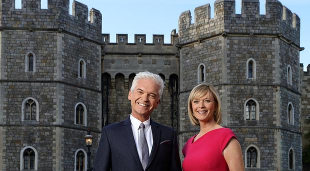 Schofield and Etchingham will anchor coverageof the royal wedding (ITV/PA)