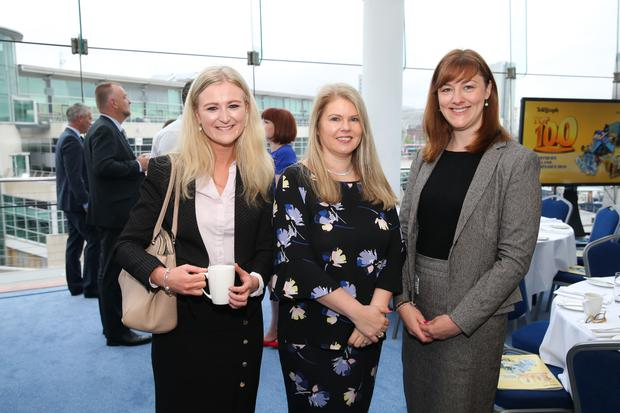 At the official launch of the Belfast Telegraph Top 100 Companies, in association with Arthur Cox, are: Caroline Hearst, Arthur Cox, Sara Venning, NI Water, and Carley Chapman, Arthur Cox.