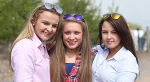 Zhara Hunter, Katie Gordon and Bethany Christie from Ballyclare take in the sights and sounds of Balmoral Show yesterday
