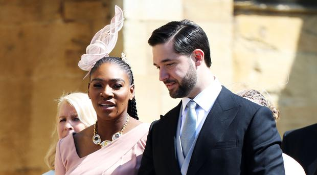 Serena Williams and her husband Alexis Ohanian were guests at the wedding (Chris Jackson/PA)