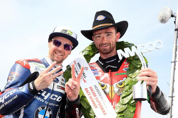 Carrickfergus men Glenn Irwin and Alistair Seeley won five races between them at this year's North West 200. Photo Stephen Davison/Pacemaker Press
