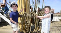 Conor and Molly McQuillan from Belfast at the Maritime Festival. Picture By: Arthur Allison. Pacemaker Press.