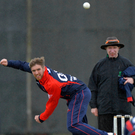 Spin king: Gary Kidd took four wickets for Waringstown at Armagh yesterday