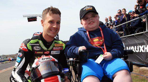 Class act: Jonatha Rea meets fan Josh McClean