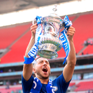 Decisive say: Eden Hazard lifts the FA Cup at Wembley