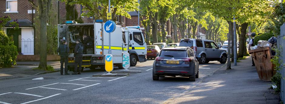 ATO at the scene of a security alert after the discovery of a suspicious object on a footpath in Glandore Avenue on May 22nd 2018 (Photo by Kevin Scott / Belfast Telegraph)