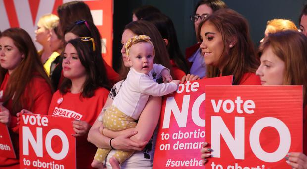 A Save The 8th press conference in Dublin (Niall Carson/PA)