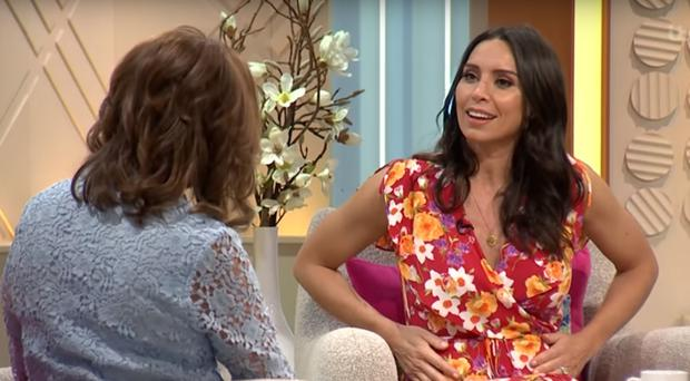Christine Lampard shows off
