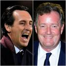 New Arsenal boss Unai Emery (left) has got the seal of approval from Gunners fan Piers Morgan.