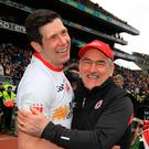 Strong words: Sean Cavanagh (left) has been critical of Mickey Harte's management