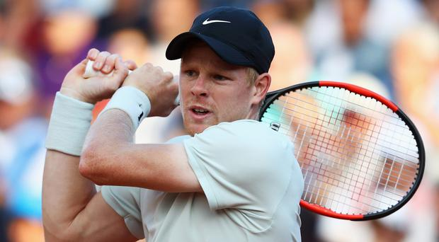 Waving flag: Kyle Edmund will be Great Britain's best hope