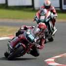 Twin peak: James Cowton, on his way to victory in the Supertwin race at the North West 200 last weekend, now turns his attention to TT success