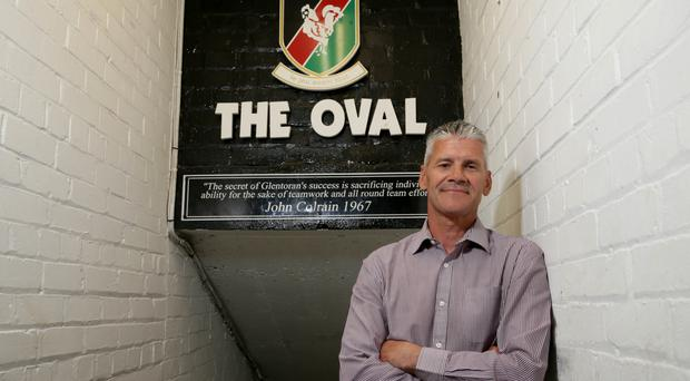 Glentoran legend: Gary Smyth at The Oval last night