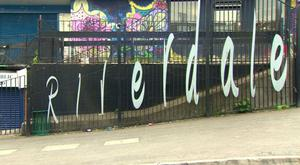Fencing in Riverdale, west Belfast. Credit: BBC