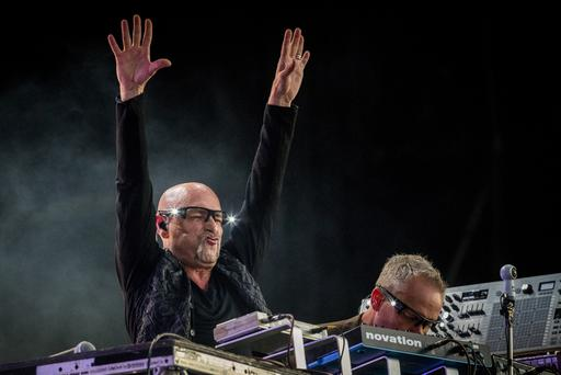Pictured Orbital, brothers Phil and Paul Hartnoll performing at the BBC Biggest Weekend Belfast. Credit: Liam McBurney/RAZORPIX