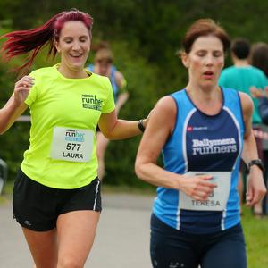 Press Eye - Belfast - Northern Ireland - 25th May 2018 Pure Running's 5K, 10K and half marathon RunHe   r Coastal challenge finishing in Crawfordsburn Country Park. Picture by Jonathan Porter/PressEye