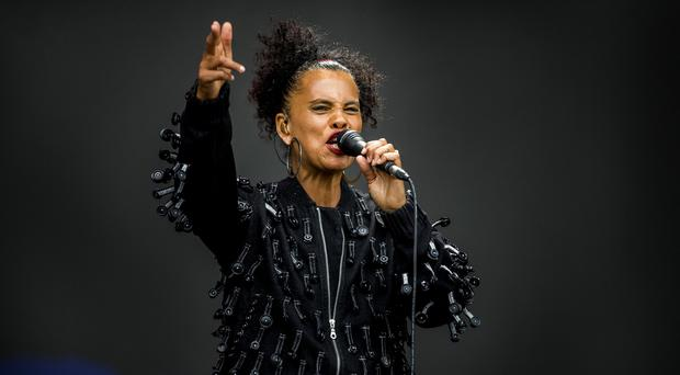 McBurney/BBC Biggest Weekend Belfast Pictured Neneh Cherry performing at the BBC Biggest Weekend on Titanic Slipway. Date: Saturday 26th April 2018 Location: Titanic Slipway, Belfast Credit: Liam McBurney/RAZORPIX Copyright: Liam McBurney/RAZORPIX Liam McBurney +44 7837 685767 +44 2890 660676 liammcburney@gmail.com