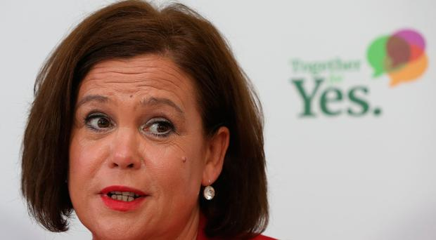 Sinn Fein Leader Mary Lou McDonald at a Together For Yes press conference in Dublin / Credit: Niall Carson/PA Wire