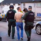Armed response officers discharge a taser while arresting a man in the Aspen Walk area of west Belfast on on May 27th 2018 (Photo by Kevin Scott / Belfast Telegraph)