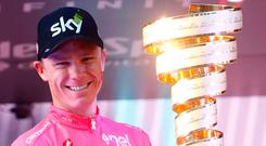Number one: Chris Froome completed a sensational comeback to win the Giro d'Italia in Rome yesterday