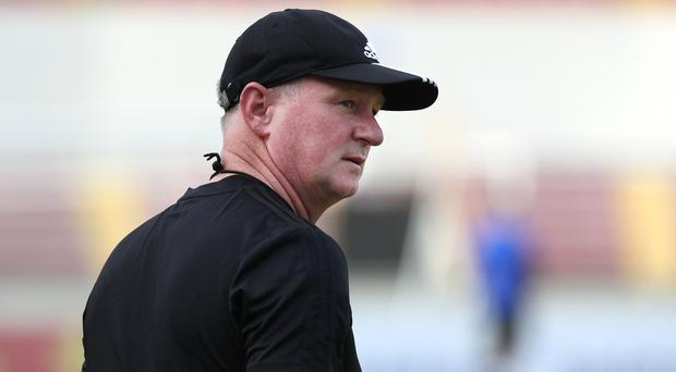 Northern Ireland manager Michael O'Neill during Sunday afternoon's training session at the Estadio Rommel Fernandez, Panama City.