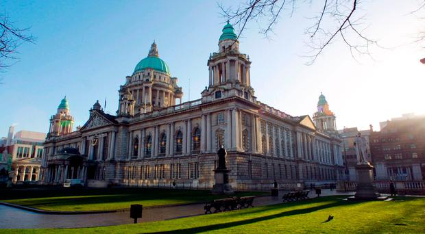 Parties at Belfast City Hall have accused Sinn Fein and the DUP of