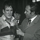 Crestfallen: Don Fox interviewed by BBC commentator David Coleman after missing a conversion from just a few yards out that would have won Wakefield Trinity the Challenge Cup in 1968