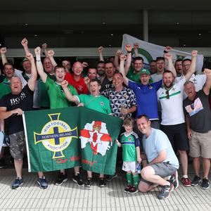 Northern Ireland fans ahead of Tuesday evenings International Friendly against Panama at the Estadio Rommel Fernandez, Panama City. Pic: PressEye William Cherry