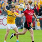 Low count: Antrim v Down attracted a meagre crowd