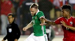 Northern Ireland's Ryan McLaughlin in action against Panama last year.
