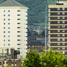 Tower blocks in the New Lodge area of north Belfast