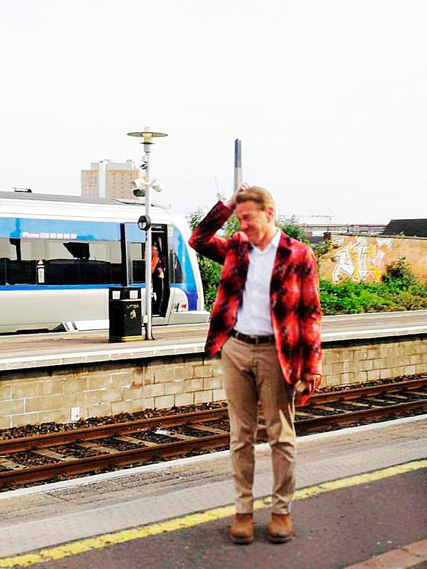 Former Tory MP Michael Portillo was spotted at Great Victoria rail station yesterday