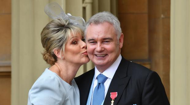 Eamonn Holmes with his wife Ruth Langsford (John Stillwell/PA)
