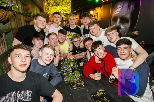People out at Filthy McNastys for Dsqo. Thursday 31st May 2018. Picture by Liam McBurney/RAZORPIX