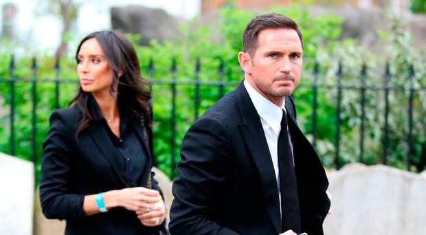 Christine with her husband Frank Lampard
