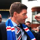 Big challenge: Liverpool great Steven Gerrard officially started his role as Rangers manager yesterday