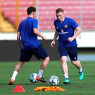 On the run: Shayne Lavery gets into his stride during Northern Ireland training in Central America