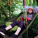 Liz Connor tree camping 33ft above ground on the Isle of Wight