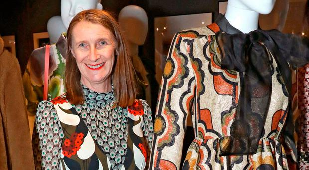 Irish-born designer Orla Kiely at her London exhibition