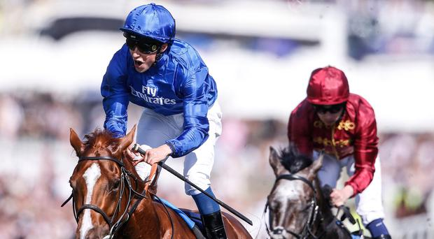 Winner alright: William Buick pilots Masar to Derby victory