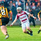 Cormac O'Doherty in hurling action