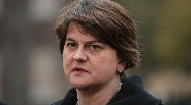 Arlene Foster said her remarks about the party's red line were not a threat to the PM (PA)