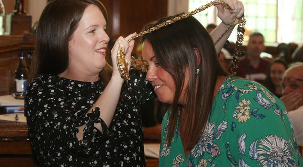 Sinn Fein's Deirdre Hargey has become the new Lord Mayor of Belfast on Monday evening, replacing Alliance's Nuala McAllister / Credit: Colm Lenaghan - Pacemaker
