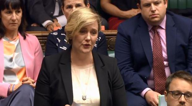 Stella Creasy in the House of Commons on Monday afternoon  Credit